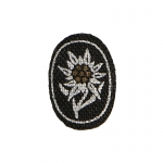 SS Edelweiss Officer Insignia (Black)