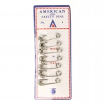 Diecast Safety Pins with Cardboard Set (White)