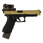 Glock 34 9mm Pistol with Aimpoint Red Dot Sight (Gold)