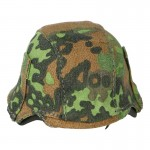 Diecast M42 Elite Helmet with Cover (Oak Leaf)