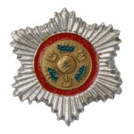 Diecast Plaque De Grand Croix De l'Ordre De La Couronne Badge (Grey)