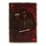 Heart 5 Bowen Card (Red)