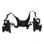 Leather Double Chest Holster (Black)