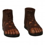Feet with Caligae Sandals (Brown)