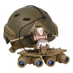 A-Frame Balistic Helmet with Ground Panoramic GPNVG-18BNVS NVG (Coyote)