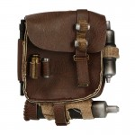 Leather Backpack with Equipments (Brown)