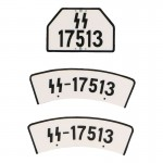 SS Motorcycle License Plates (White)