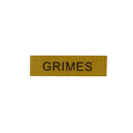 Grimes Name Plate Patch