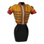 Female Leather Midriff-Baring Jacket (Yellow)