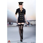 Female Sexy Flight Attendant Suit Set (Black)