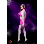 Female Sexy Lady Leather Suit Set (Pink)