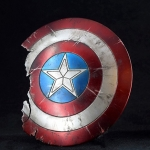 Diecast Captain Battle Damaged Shield (Blue)