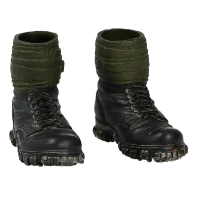 Bergschuhe Mountain Boots with Puttees (Black)
