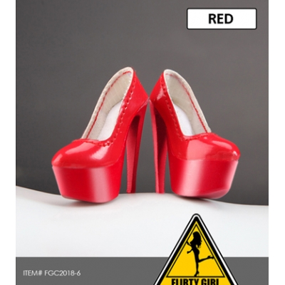 Female Heeled Shoes (Red)