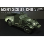 Diecast M3A1 Scout Car (Olive Drab)