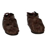 Leather Sandals (Brown)