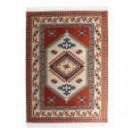 20x30cm Real Woven Carpet (Orange)