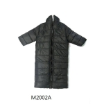 Stand Collar Long Down Coat (Black)
