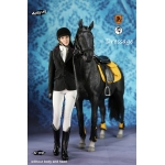 Horse and Female Equestrianism Dressage Set (Black)