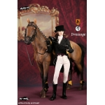Horse and Female Equestrianism Dressage Set (Brown)