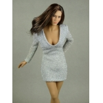 Female Glitter Mini Party Dress (Grey)