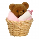 Teddybear in a Basket (Beige)