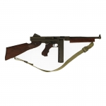 Wooden Diecast Thompson M1A1 Submachinegun (Black)