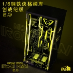 LED Light Up Iron Man Neon Tech Hall Of Armor 2.0 (Noir)