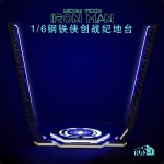 LED Light Up Neon Tech Iron Man Diorama Display Stand (Black)
