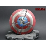 Diecast Captain Star Battle Damaged Shield (Red)