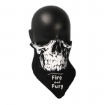 Fire And Fury Skull Scarf (Black)