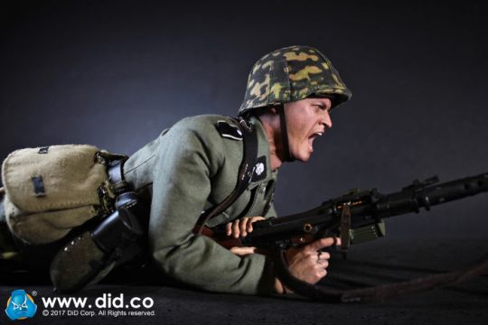 Grey Gloves DID Action Figures Alois MG34 Gunner 1//6 Scale