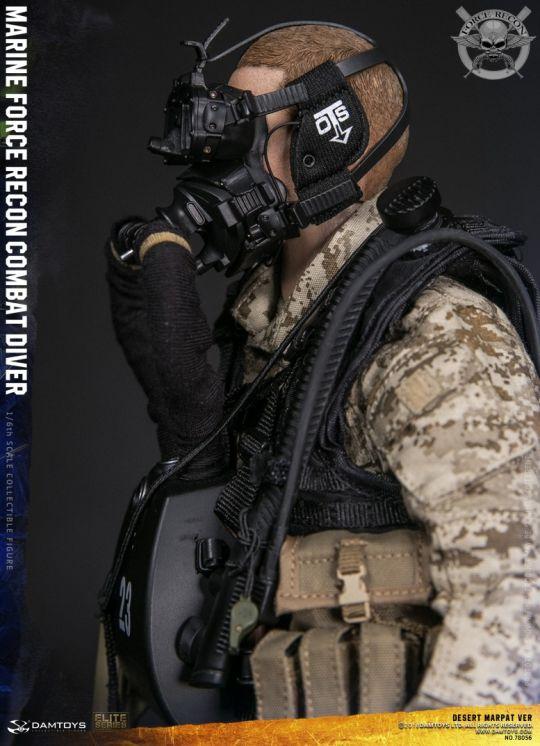 1//6 Scale Soldier Marine Force Recon Combat Diver Desert Camouflage Uniform