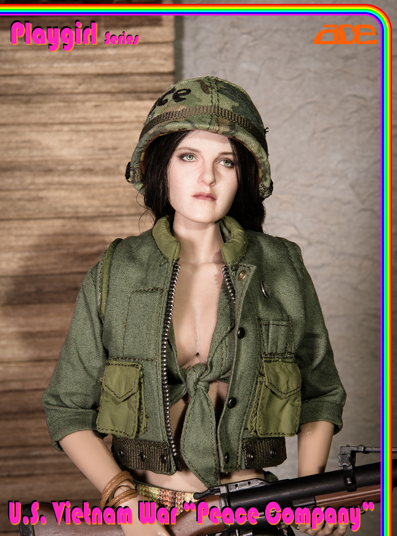 "U.S 1//6 scale ACE 13034 Playgirl Series Vietnam War ""Peace Company /"" Box Set"